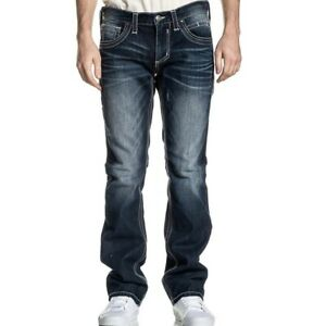 Affliction Mens Jeans Size 40 x 34 Ace Fleur Fable Wash Straight Leg Distressed