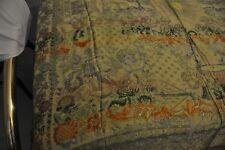 COPERTA MATRIMONIALE   vintage 1890 1910  seta- cotone - dipinta