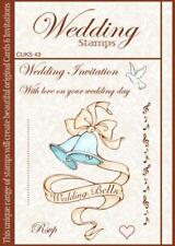 Wedding bells, dove, music, invitation - unmounted rubber stamps for card making