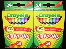 2 X Crayola 24 Count Color Crayons Box (2 Box Lot) *Brand New In Retail Box!