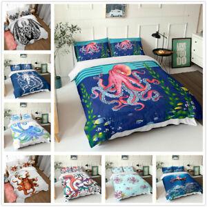 Octopus Monster Printed 3D Bedding Set 2/3PCS Duvet Cover & Pillowcase(s) Gift