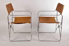 Coppia di sedie pieghevoli Zanotta April design Gae Aulenti (1964) Vintage