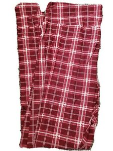 LuLaRoe TC TALL CURVY Leggings Red white plaid stripe