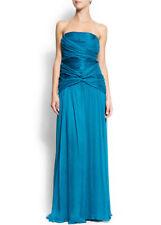 100% silk MANGO SPECIAL COLLECTION deep purple strapless maxi DRESS XL bnwt