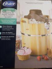 Oster Ice Cream Shop 4-Quart Wooden Bucket Ice Cream Maker New