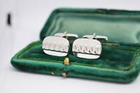 Vintage Sterling Silver cufflinks with an Art Deco style #B308