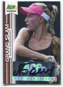 2013 Ace Authentic Grand Slam Brown ab2 Alona Bondarenko Auto 20/50