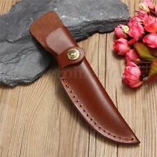 Straight Leather Sheath Scabbard Case Bag For Fixed blade Knife NEW