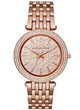 2018 New Michael Kors Darci Rose Gold Monogram Dial MK3399 Women's Glitz Watch