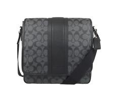 Coach Heritage Stripe Map Bag Crossbody Bag Shouder Bag F71102 Charcoal/Black
