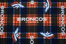 "1- DENVER BRONCOS KING SIZE PRINTED FLEECE PILLOW CASE/BLACK BACK 20""x36"""