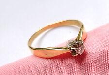 Toller Ring 55 (17,5 mm Ø) 585/14k Gold Brillant 0,09ct Diamant - Solitaire