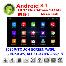 """BT Car Stereo Radio 2 DIN 10.1"""" Touch HD FM Player GPS Android 8.1 Mirror Link"""