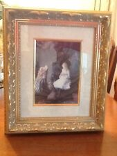 VICTORIAN PICTURE CHILDREN IN THE DRAWING ROOM BEAUTIFULLY FRAMED AND MATTED