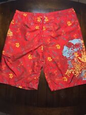 9589ac731a Body Glove Men's Board Shorts 36 Swim Trunks Suit Red Multicolor Floral  Print