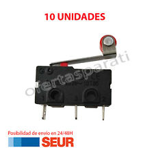 10X Micro Pulsador Final de carrera Con Palanca y Rueda 3 Pines