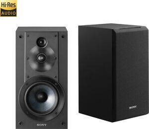 "Sony - Core Series 5"" 3-Way Bookshelf Speakers (Pair) - Black"