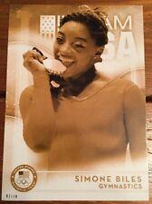 2016 Topps Olympics Gold 5X7 Jumbo Card Simone Biles Gymnastics #/10 Rare