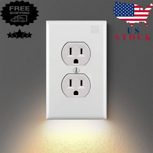 5Pcs Outlet Wall Plate With LED Night Lights High-quality Durable Convenient New
