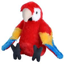 Cuddlekins Mini Scarlet Macaw Plush Toy Parrot 20cm Stuffed Animal Wild Republic