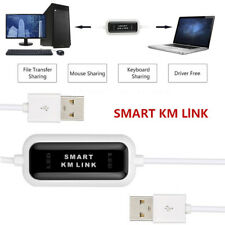 USB 2.0 Keyboard Mouse Share Smart KM Link File Transfer Data Cable 2 Computers