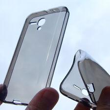 custodia in silicone cover fumè x Alcatel One Touch 5038 Pop D5 antiurto