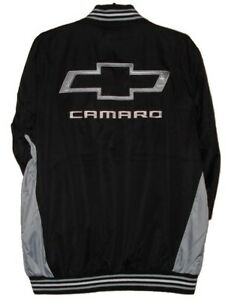 GM Chevrolet Camaro  Racing Black Embroidered Nylon Jacket New JH Design  3XL