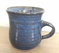 Handmade Pottery Coffee Mug by Rhonda Parker of New Jersey (Blue, 8 oz.)