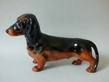 More details for large collectable beswick china black & tan dachshund sausage dog free uk p+p