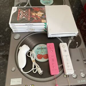 Nintendo Wii Console With 5 Games Official Just Dance Disney Etc