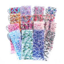 16Pcs Transfer Foil Sticker Nail Art Flower Floral Slider Nail Art Decoration