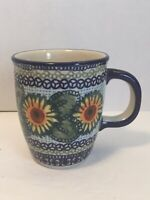 Boleslawiec Pottery 10oz Coffee/Tea Cup Hand Made in Poland Lead Cadmium Free