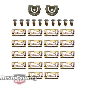 Holden Front Windscreen Moulding Clip + Screw Kit HQ HJ HX HZ WB mould surround