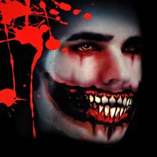Scary Mouth Temporary Tattoo Halloween Dress Up Costume Zombies Mask Face Paint