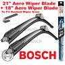 "Bosch AeroTwin Front Wiper Blades 21"" Inch and 18"" Inch Pair Hook Type"