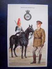 Military Uniform Postcard printed - The Blues & Royals