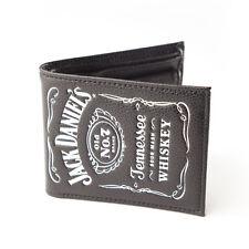 Jack Daniels - Classic Embossed Logo - Bi-Fold Leather Wallet - Black