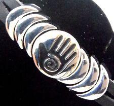 Epic Spirit Bracelets Wheeler Healing Hand Leather Pewter Clasp Magnetic wcb 752