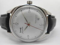 GENUINE HMT JANATA HAND WINDING MEN'S STEEL VINTAGE INDIA MADE WATCH RUN ORDER