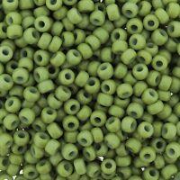 Miyuki Round Seed Beads Size 8/0 DURACOAT Opaque Spring Green 24gm-Tube 8-4473
