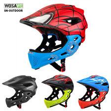 Kinder Fahrradhelm Fullface MTB Mountainbike Helme für Jungen Mädchen Youth