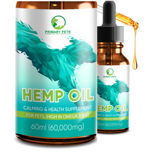 Dog Hemp Oil, for Arthritis Stiff Older Dogs joint care with Omega 60ml Dropper