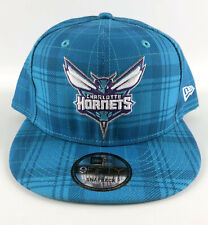 Charlotte Hornets Baseball Snapback Hat New Era 9Fifty Blue Plaid