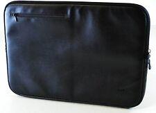 iLuv Premium Festival 15 Inch Laptop Sleeve Macbook Pro Black UPVC Leather
