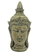 "Meditation Feng Shui Buddha Head Statue Figurine 10""H Resin Recharge Zen"