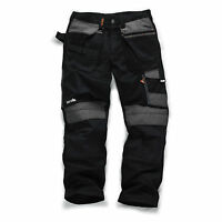 SCRUFFS Trade 3d Work Trousers 30-40 Waist 30 32 34 Leg BLACK or GRAPHITE GREY