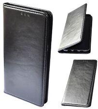Housse Coque Étui à clapet en cuir véritable Noir pour SAMSUNG GALAXY S7 Edge