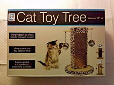 Tiny's Pet Products - Cat Toy Tree with Sisal and Cardboard Scratching Surfaces
