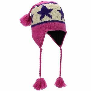 Wool Knit Earflap Tassel Hat LoudElephant Knitted Cap Warm Winter Dreds