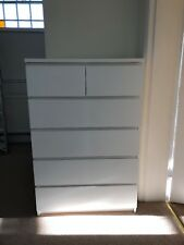 ikea malm chest of 6 drawers white